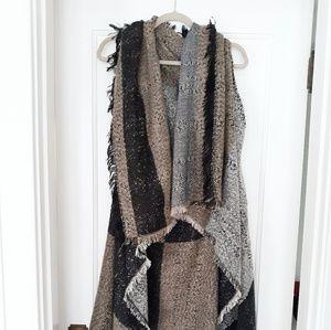 EXPRESS Long Knit Sweater Vest Wrap / O/S